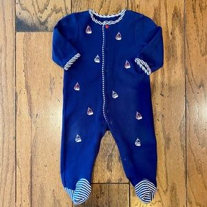 Little Me Sailboat Footed PJ's 9M